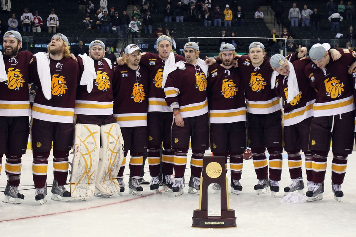 A first time champion will be crowned at the 2013 NCAA Frozen Four.