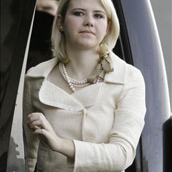Elizabeth Smart arrives at court Tuesday for the trial of accused kidnapper Brian David Mitchell.