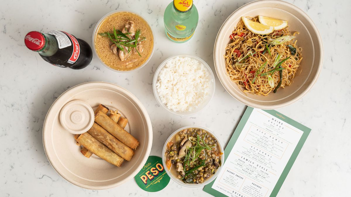 Petite Peso's family-style meal.