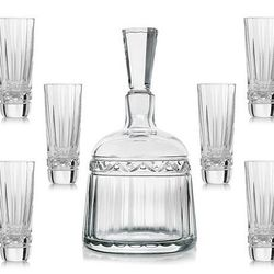 <b>Hermès</b> Iskender Ctystal Vodka Decanter with six glasses, $2,600. For your obligatory EOTW party. Cheers!