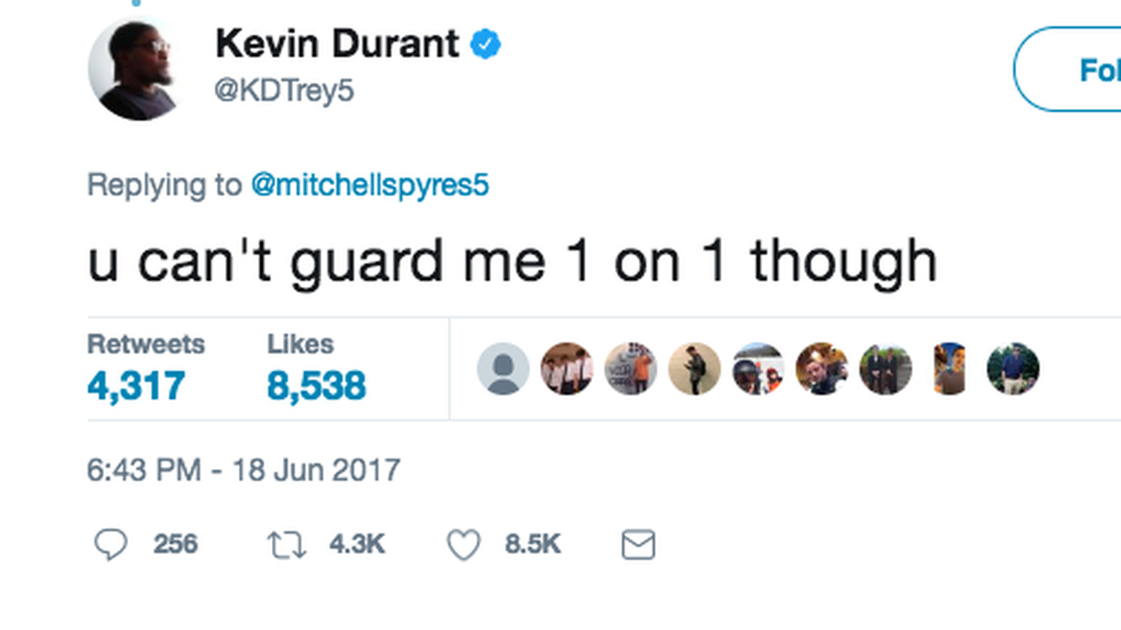 fbe9e00d43491 Kevin Durant won an NBA title and started trolling people on Twitter again  - SBNation.com