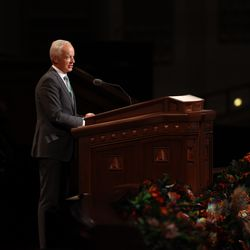 Elder Michal A. Dunn,a General Authority Seventy, speaks during the Sunday afternoon session of the 191st Semiannual General Conference of The Church of Jesus Christ of Latter-day Saints on Sunday, Oct. 3, 2021, in the Conference Center in Salt Lake City.