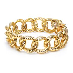 """Ray Griffiths <a href=""""http://www.stoneandstrand.com/bracelets/crown-work-cable-link-bracelet"""">Crown Work Cable Link Bracelet</a>, $12,089"""