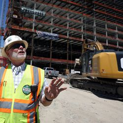 Superintendent Rod Park leads a tour of the new patient tower of Utah Valley Hospital, which is under construction in Provo on Tuesday, July 5, 2016.