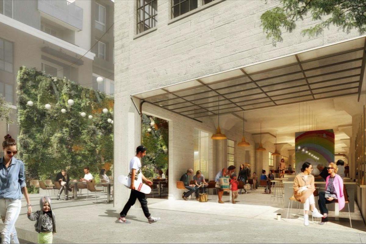 Rendering of ground floor public space