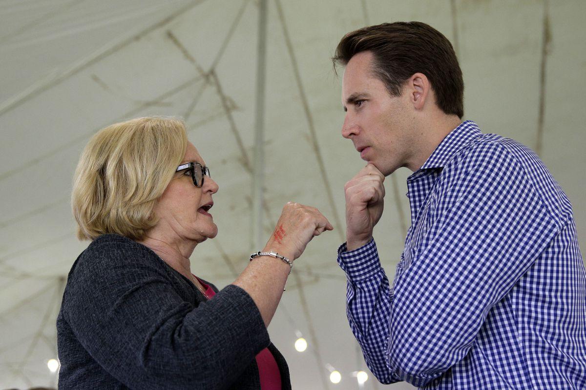 Sen. Claire McCaskill will face off with Missouri Republican AG Josh Hawley this November.