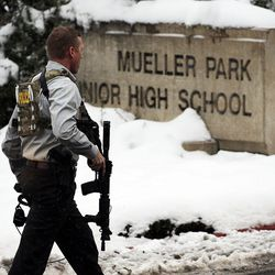 Officials respond to an incident at Mueller Park Junior High School in Bountiful on Thursday, Dec. 1, 2016.