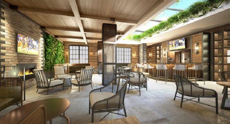 Montecristo Cigar Bar courtyard rendering