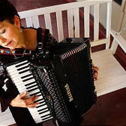 Janet Todd plays the accordion -- the most popular instrument in the world.