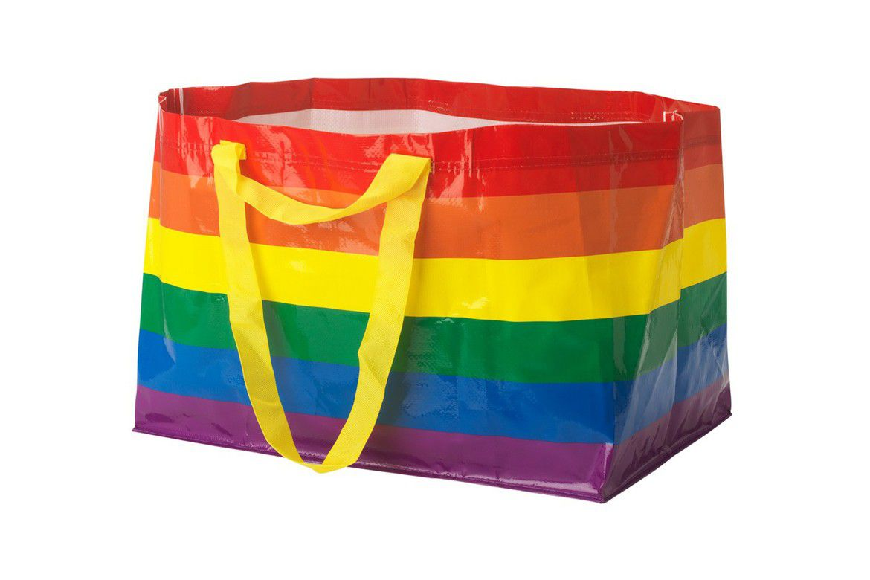 Rainbow colored plastic bag
