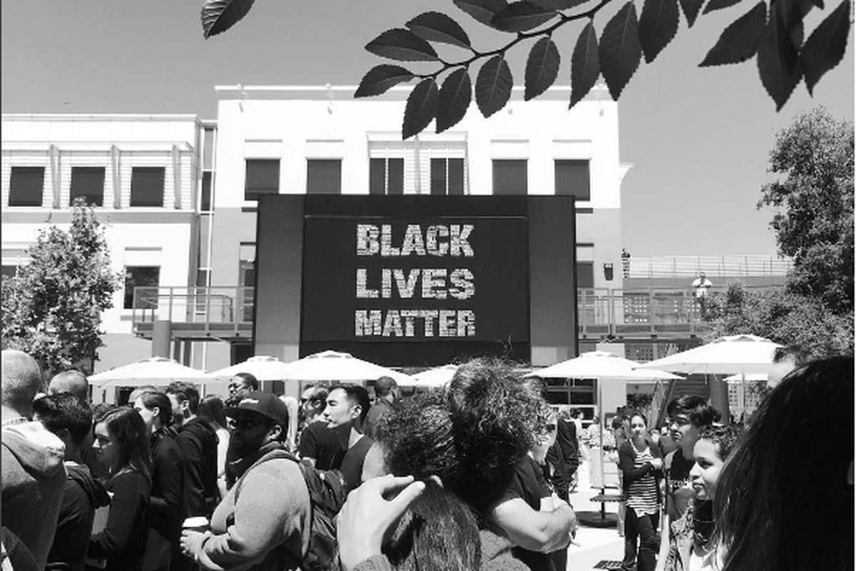 """Facebook put up a """"Black Lives Matter"""" sign last week. But will they invest in hiring black people at their company?"""