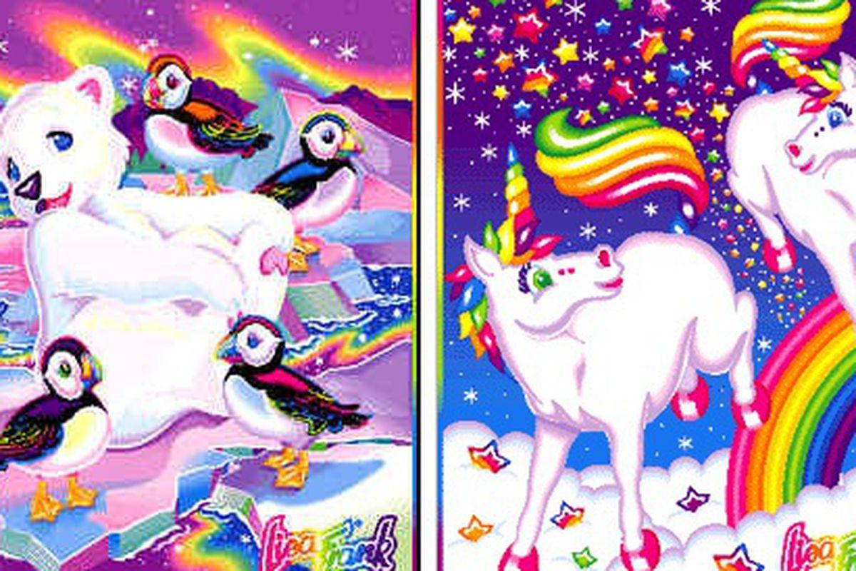 """This. Photos via <a href=""""http://www.okaygreat.com/2009/03/lisa-frank-rainbow-cake/"""">OK Great</a>"""