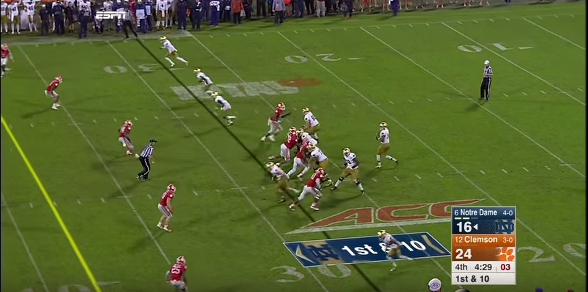 With the exception of Dodd, this is how you get off the snap
