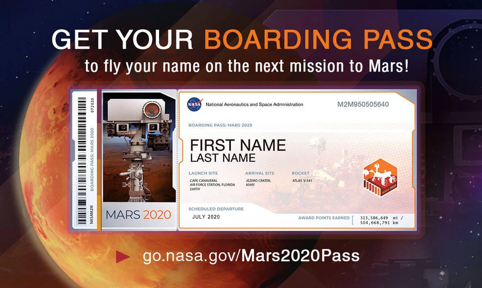 Now's the time to get your name on NASA's next mission to Mars - The