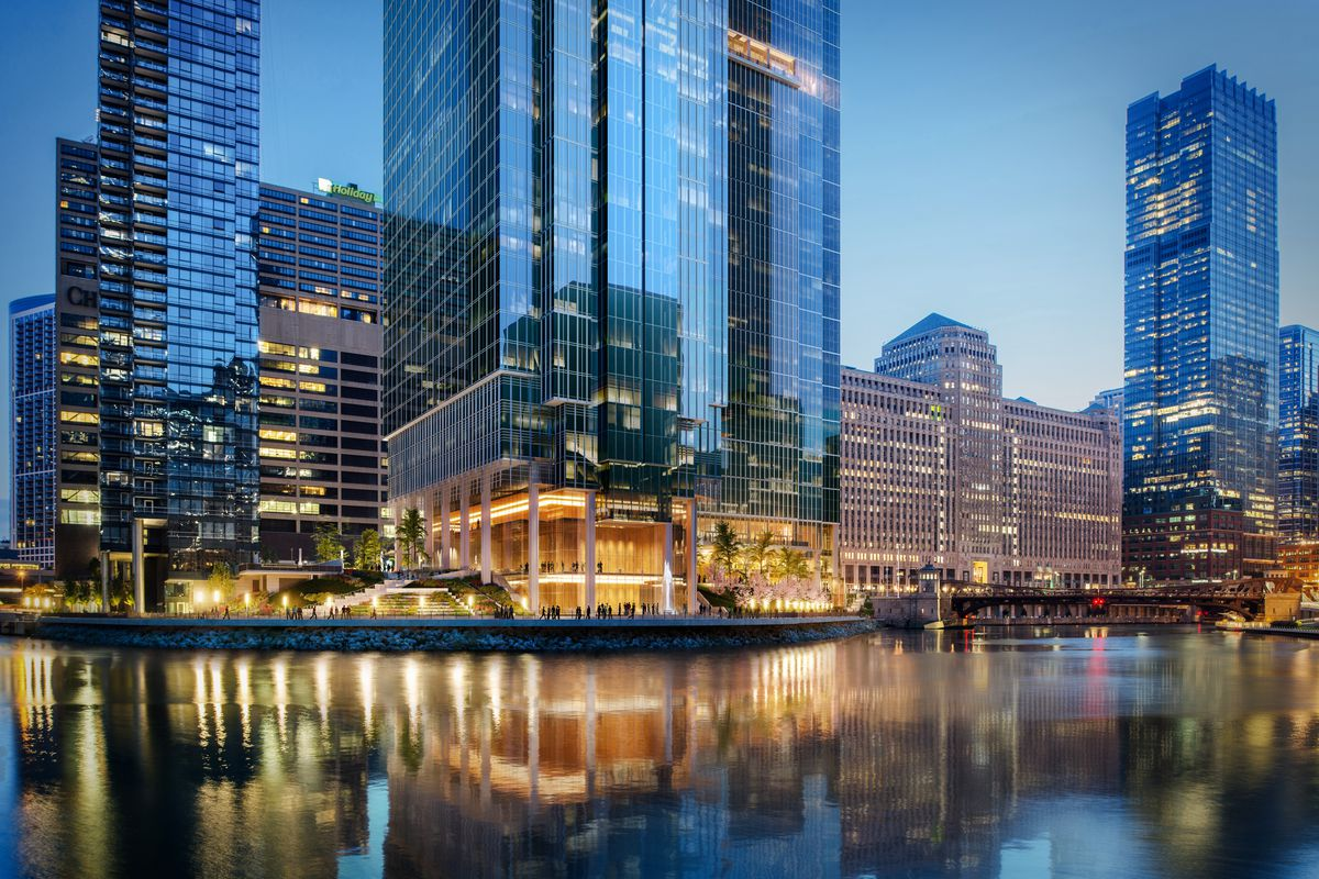 chicago s wolf point development the latest renderings curbed chicago. Black Bedroom Furniture Sets. Home Design Ideas