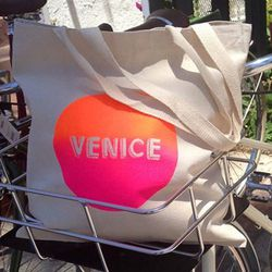 """Jacqueline says: """"I love <a href=""""http://www.shopfirefly.com"""">Firefly</a> in Venice (1409 Abbot Kinney Blvd) for their accessories and stationery.  Their screen-printed tote bags that say 'Venice' (<a href=""""http://shopfirefly.com/shop/day-glow-venice-tote"""
