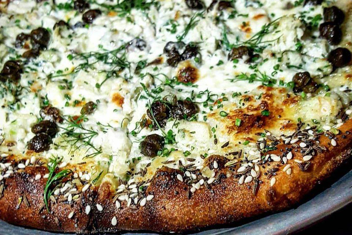 Smoked whitefish pizza at Waypoint