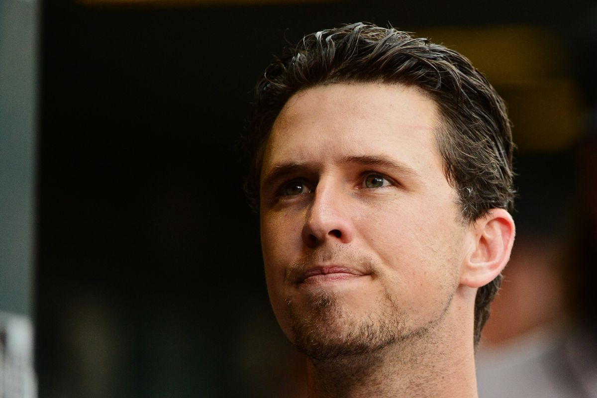 This is Buster Posey, and he couldn't play because of an injury, and that's bad