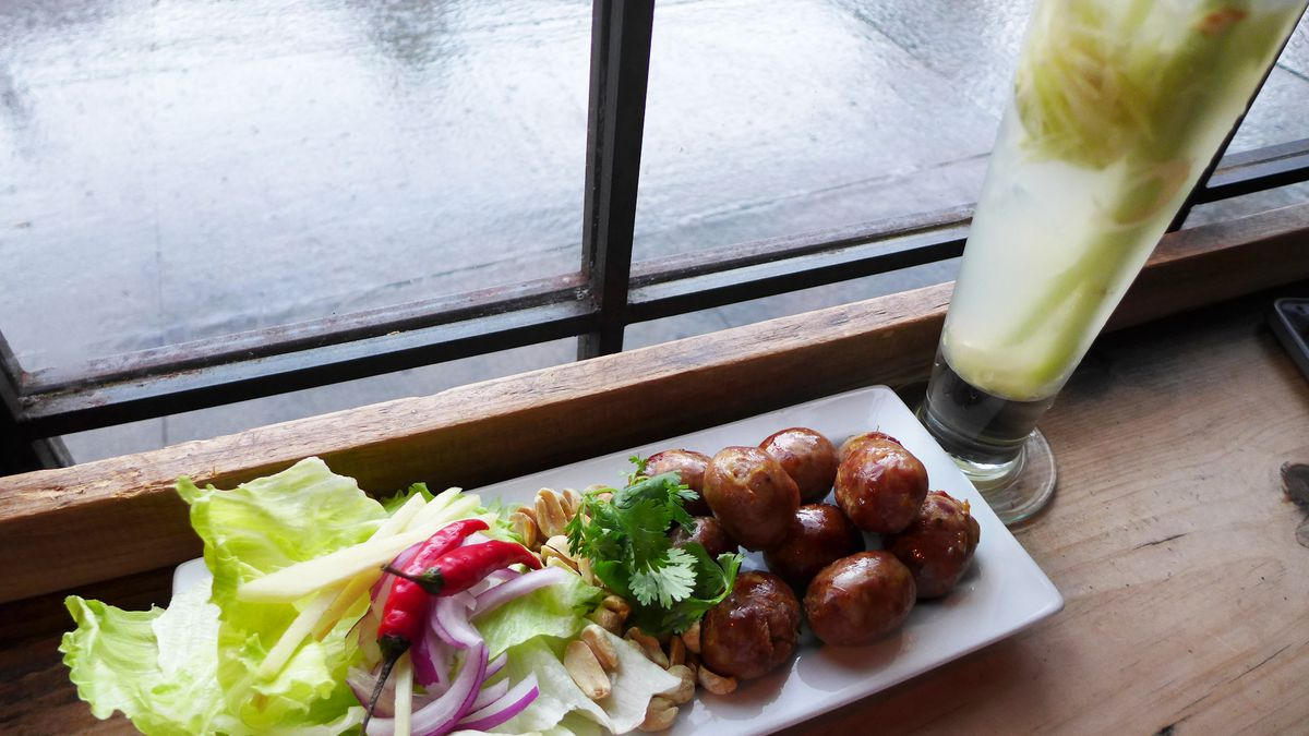 Lemongrass cocktail and Isan sour sausage snack? Pata Paplean can set you up.