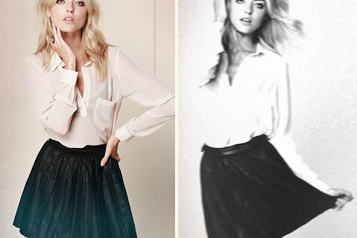 """No animals were harmed in the making of this pleated skirt. Image via <a href=""""http://mamasarollingstone.com/free-people-introduces-vegan-leather-collection/"""">Mama's a Rolling Stone</a>."""