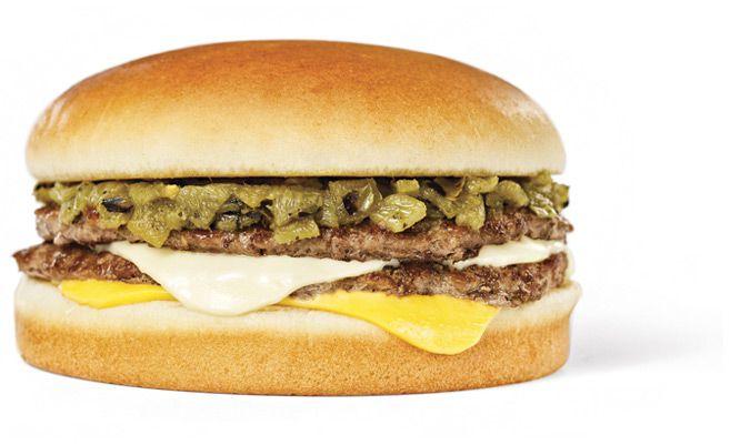 Green chile cheeseburger from Whataburger