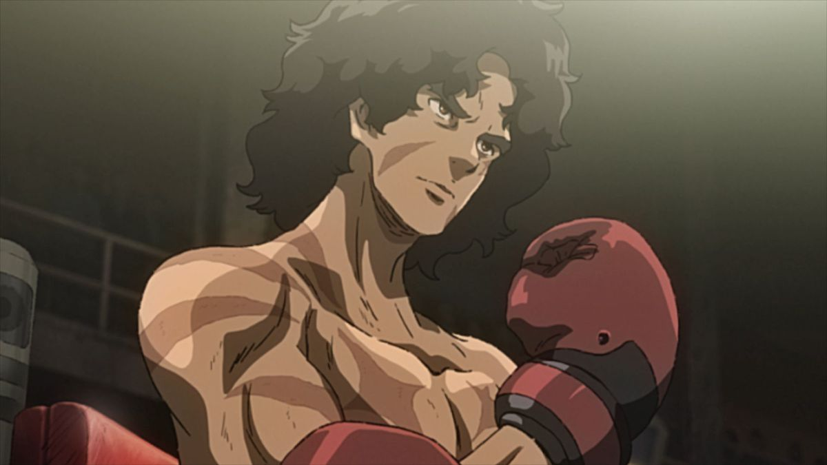 Gearless Joe preparing to enter a match in Megalobox 2 Nomad.
