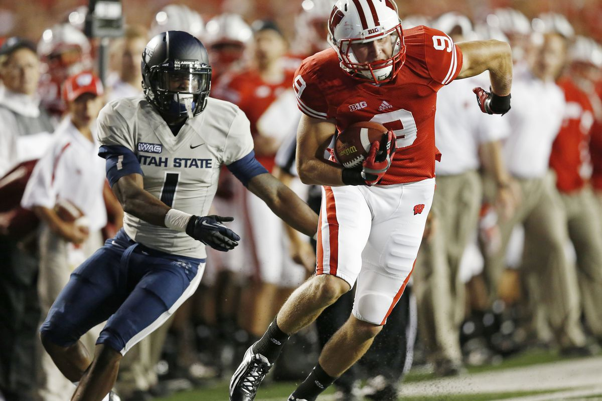 It was close -- too close -- but Wisconsin ultimately ran away from Utah State Saturday night at Camp Randall Stadium.