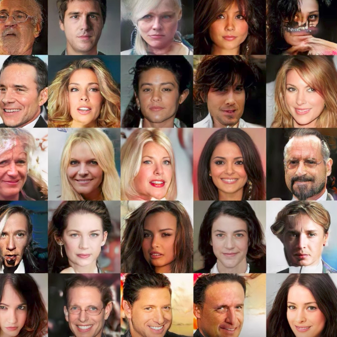All of these faces are fake celebrities spawned by AI - The