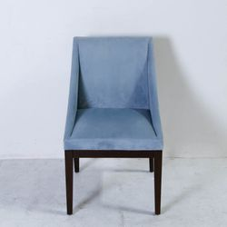 """Sky Blue Velvet Chairs, $420 for set of four (was <a href=""""https://www.moveloot.com/shop/chairs/dining_chairs/5089-sky-blue-velvet-chair"""">$600</a>)"""