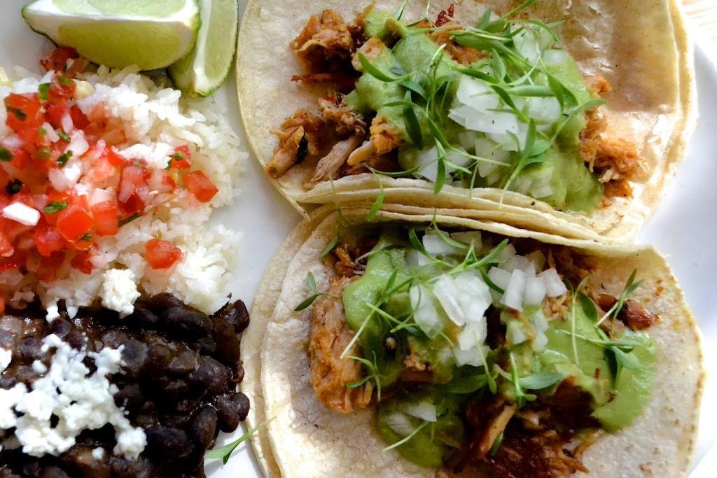 Tacos from La Condesa