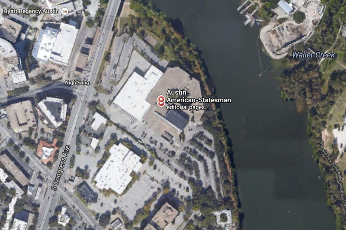 The location of the Austin American-Statesman headquarters