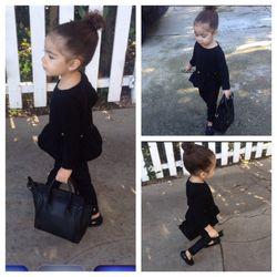 Zara Kids peplum top, Joes Jeans pants, Venettini loafers, Celine bag