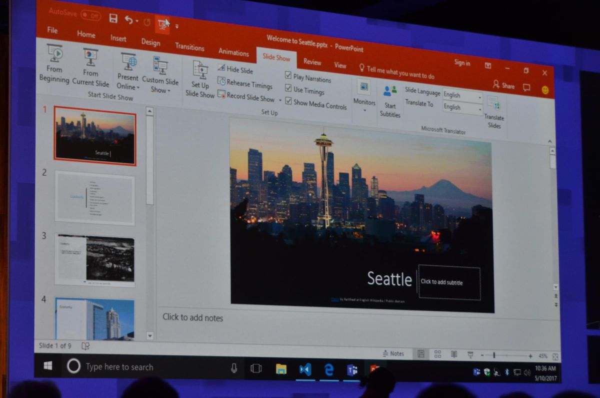 microsoft powerpoint can now translate presentations in real time