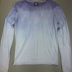 """From Philly designer/DJ Nigel Richards, the <a href=""""http://shop.611lifestyle.com/products/luxe-life-blue-hand-dyed-tissue-tees"""">611 Hand-Dyed Tissue Tee</a>, $110."""