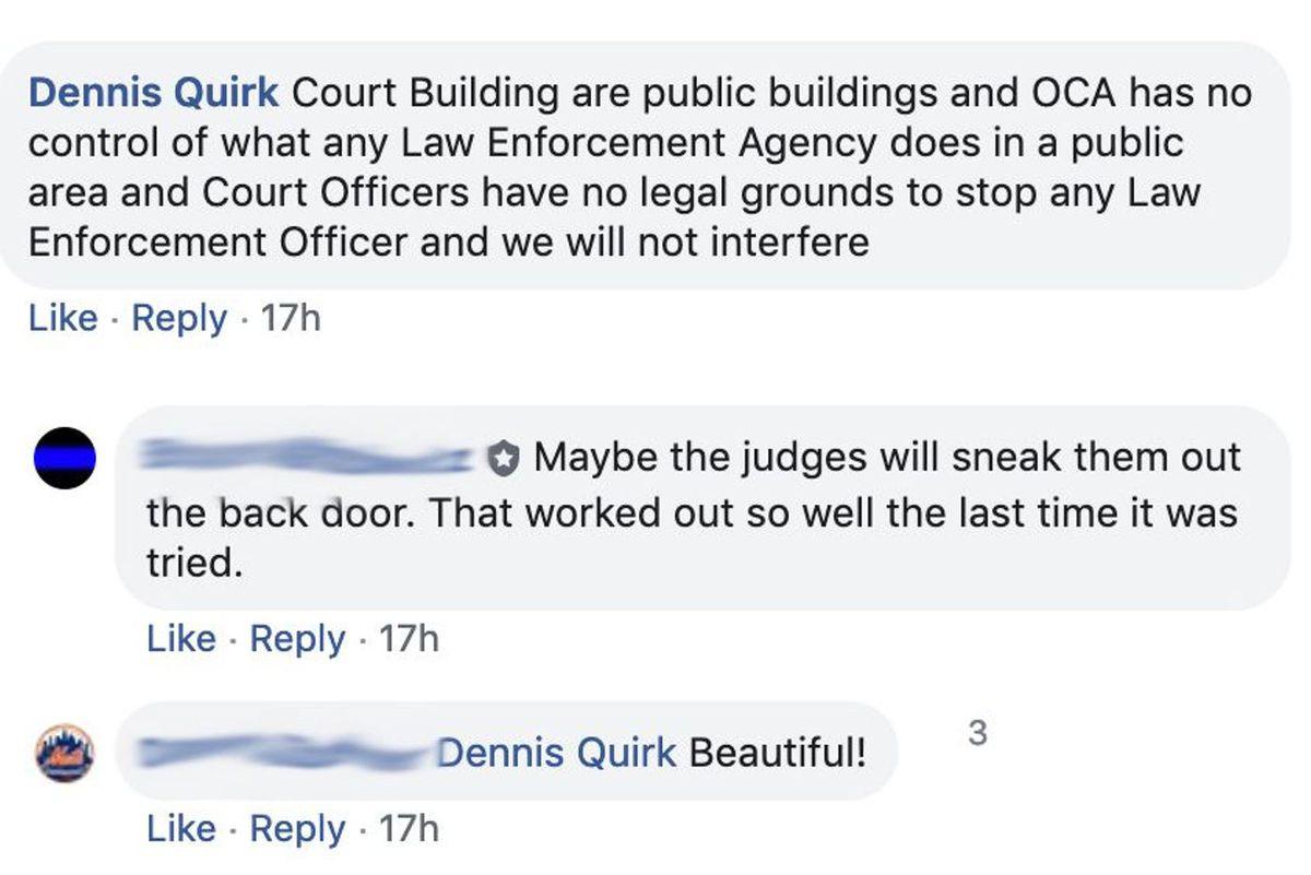 Dennis Quirk Facebook Comment