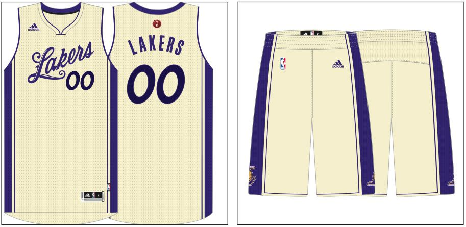 best service 4de0e 249e4 Lakers 2015 Christmas Day uniform unveiled - Silver Screen ...