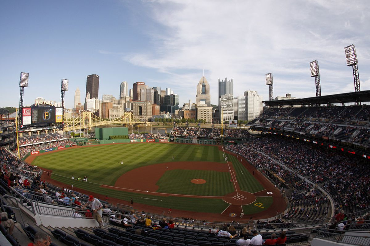 PITTSBURGH - JUNE 03:  A general view of PNC Park during play between the Philadelphia Phillies and the Pittsburgh Pirates on June 3, 2011 at PNC Park in Pittsburgh, Pennsylvania. (Photo by Justin K. Aller/Getty Images)