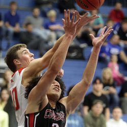 Grantsville plays Manti in the 3A boys basketball state tournament quarterfinals at the Lifetime Activities Center in Taylorsville on Thursday, Feb. 20, 2020. Manti won 67-54.