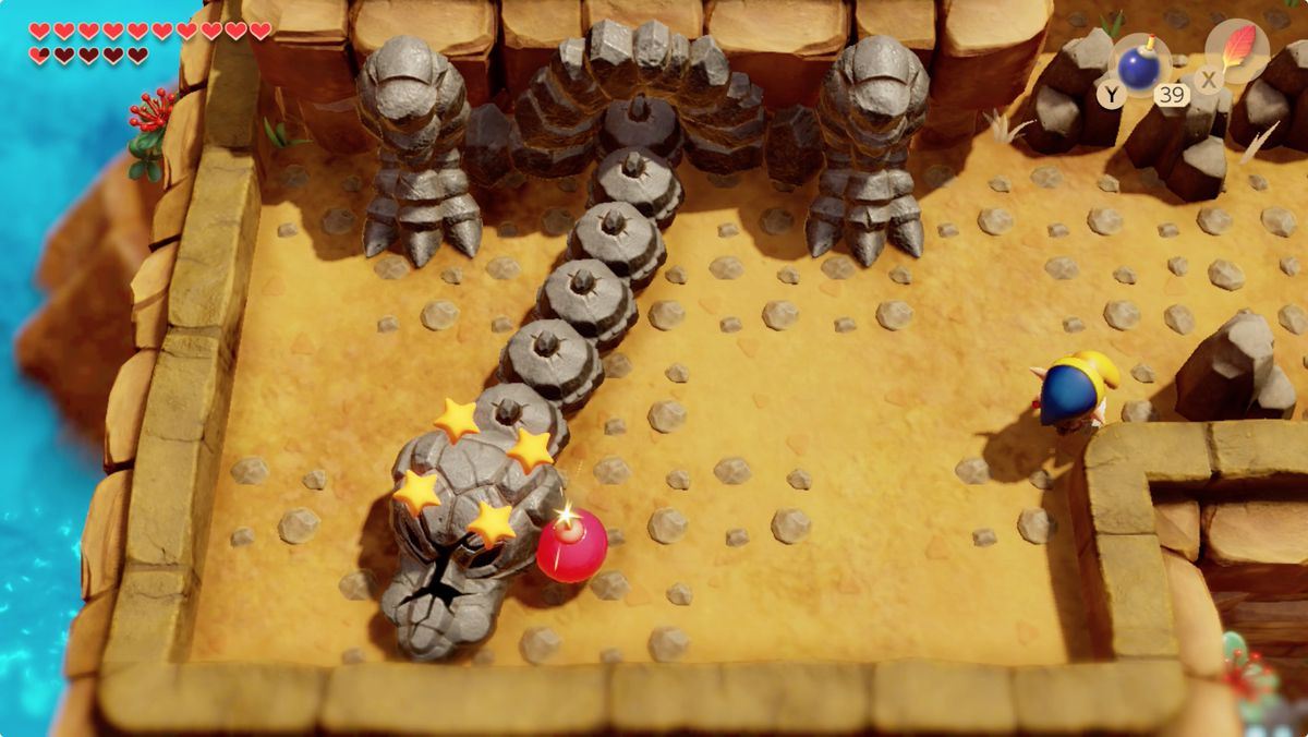 Link's Awakening Turtle Rockentrance boss fight