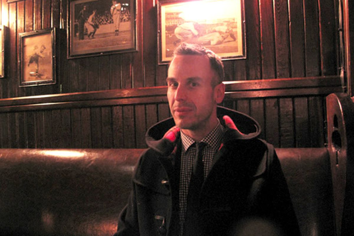 Adam Rapoport at Keen's Chophouse with a nice jacket