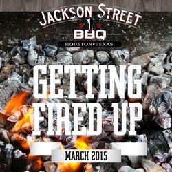 Splash page for upcoming Jackson Street BBQ.