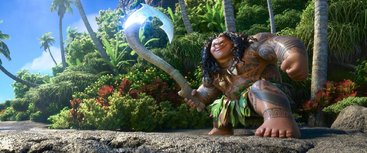 The demigod Maui and his fishhook