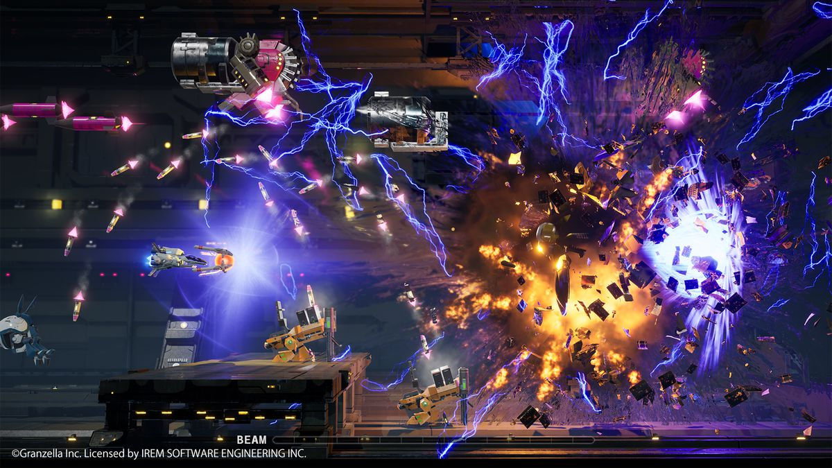 lots of explosions in R-Type Final 2