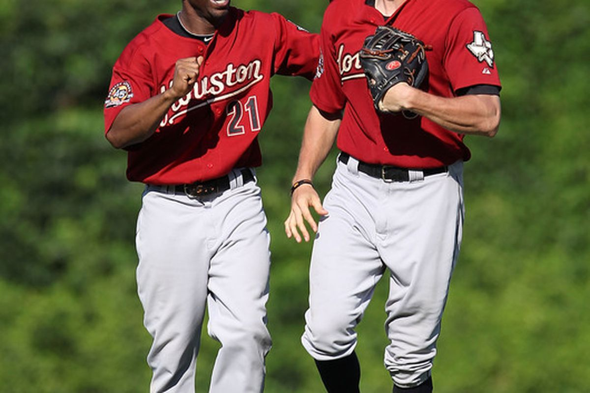 The tandem of these two in MLB2K9 has served me well with 95 steals and 300 RBIs between the two of them.  Hey, why not live out a dream in the off-season? (Photo by Jonathan Daniel/Getty Images)