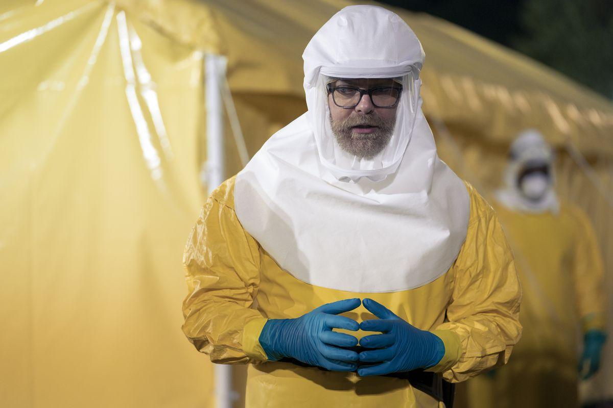Rainn Wilson is a standout as virologist Michael Stearns.