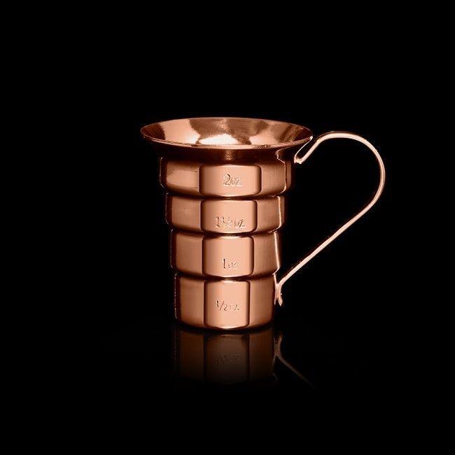 A stepped copper jigger