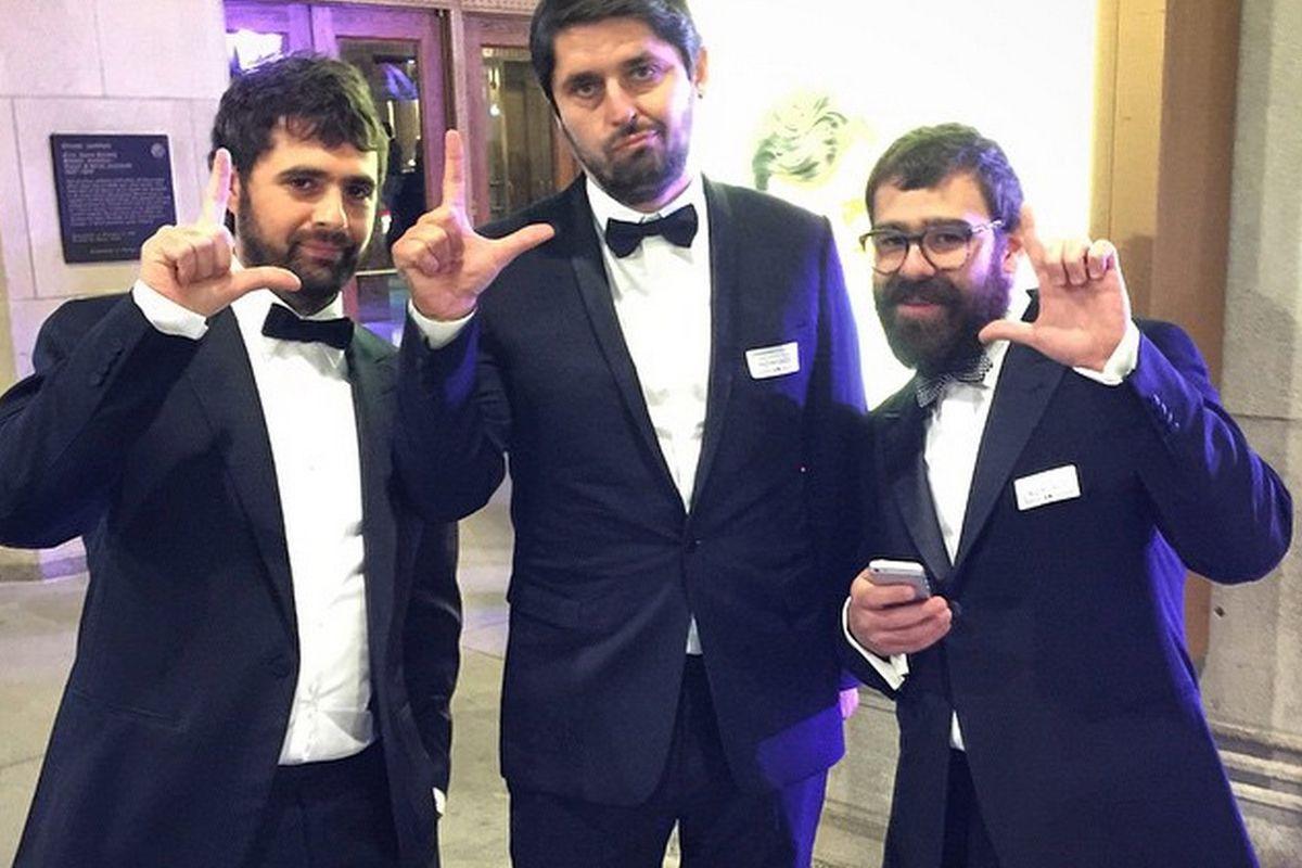 Jon Shook, Ludo Lebebvre, Vinny Dotolo at the James Beard Awards 2015