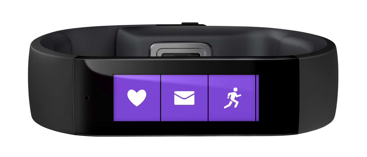 The $200 Microsoft Band also has optical heart-rate sensors.