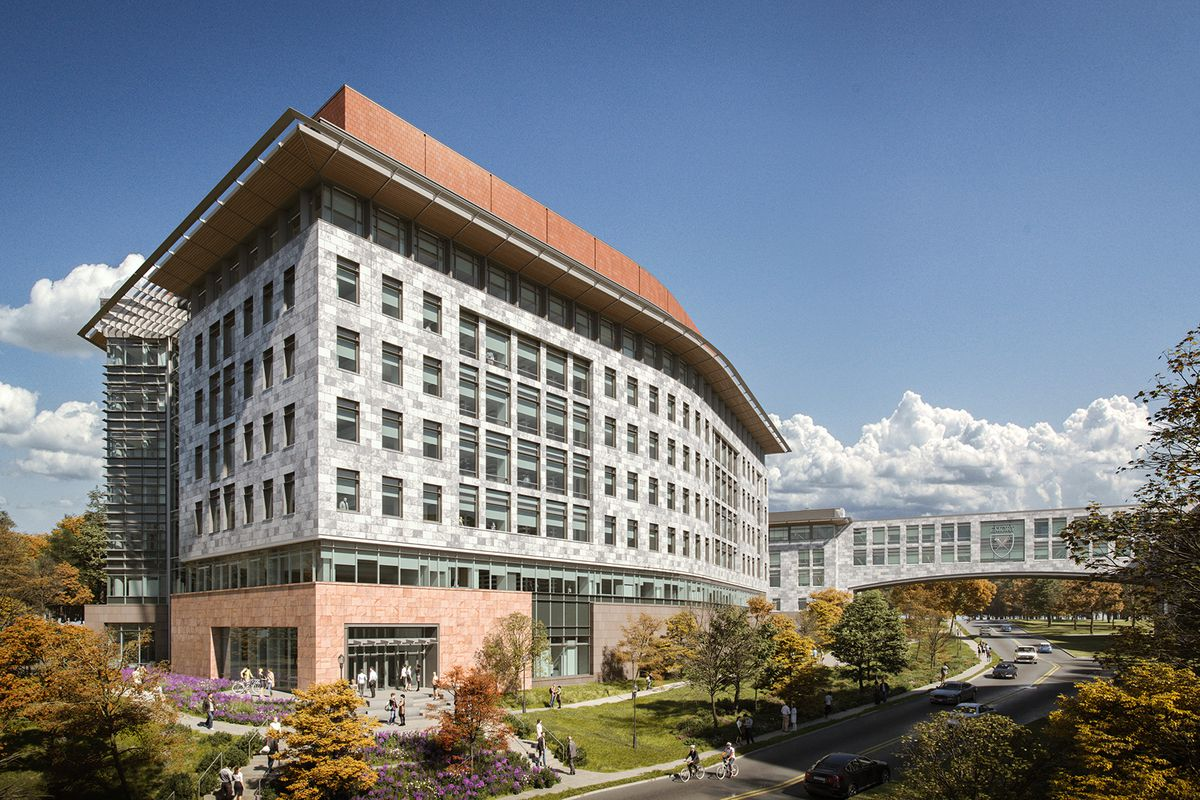 A rendering of the proposed biomedical center.
