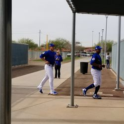 Pitchers moving from field to field